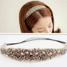 Crystal Head Piece Women Girls Lace Pearl Hairband Rhinestone Headband New ZH