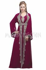 ORIGINAL MODERN ABAYA FANCY JILBAB ARABIAN KAFTAN WEDDING GOWN DRESS 6096