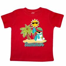 Inktastic Summer Surfing Snowman With Palm Tree And Sun Toddler T-Shirt In July