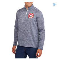 Official Marvel Captain America 1/4 Zip Pull Over NWT! FREE SHIPPING!