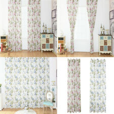 100x200cm Sheer Window Curtain Rod Voile Drapery Panel Floral Rod Curtain