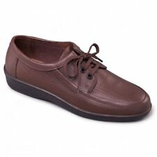 Padders REBEL Mens Leather 3 Eyelet Lace Up (F Fit) Casual Comfy Shoes Brown