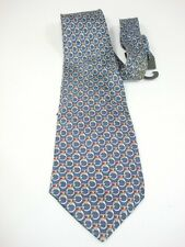 Claude Amie Silk neck tie Blue with silver chain links design New