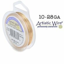 GOLD Silver Plated Artistic Wire non-Tarnish Craft Wire (Large Spool)