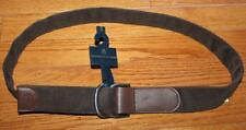 NWT NEW Mens Brooks Brothers Double D-Ring Belt Brown Corduroy Leather Tip $59