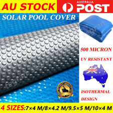 Solar Swimming Pool Cover 500 Micron Outdoor Bubble Blanket 4 SIZES 2 YR WRTY
