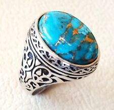 Copper Blue Turquoise 925 Silver Ring Jewelry Wedding Engagement Party Size 6-10