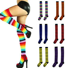 Fashion Girls Women Thigh High OVER the KNEE Socks Striped Long Cotton Stockings