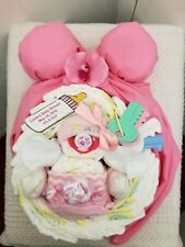 Mommy & Me Baby Bump Belly Diaper Cake Baby Shower Centerpiece Gift Set Girl Boy