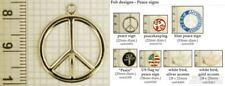 Peace sign & symbol decorative fobs, various designs & watch chain options