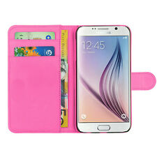 Leather Book Pink Wallet Phone Case Cover Pouch For Apple Samsung Galaxy Nokia