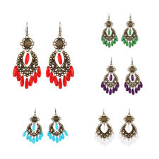 Vintage Jewelry - Behomia Style Beads Dangle Earrings Hook Style for Women