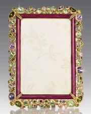 $950 NEW JAY STRONGWATER Emery Bejeweled PICTURE FRAME holds 4 x 6 photo Bouguet