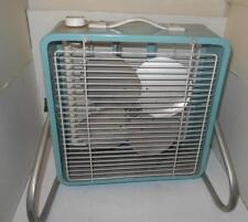 "ESKIMO 3-speed BOX FAN Small mini 15"" TURQUOISE mcgraw edison 121060 WORKS vtg"