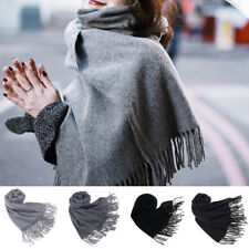 Women Mens Winter Warm Scarf Long Cashmere Wool Solid Shawl Neck Scarves