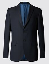 EX M&S COLLECTION PERFORMANCE WOOL BLEND STRIPED SINGLE BREASTED JACKET BLAZER