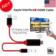NEW 2M 8 Pin Apple Interface to HDMI TV AV Adapter Cable 1080P For iPad4 5 iOS11