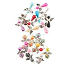 10pc Mix Angel Charms Pendants ABS Pearl Beads Wings for Jewelry Making Crafting