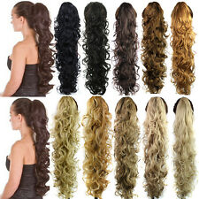 30Inch Clip In Pony Tail Hair Extensions Claw In Ponytail Hair Pieces Curly Hair