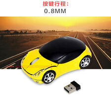 Car Shape Wireless Optical Mouse 2.4GHz 1200DPI USB Scroll Mice for PC Tablet US