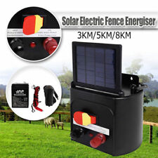 3km 5km 8km Solar Electric Fence Energiser Energizer Power Charger Farm Animal