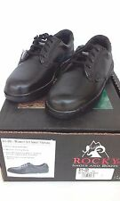 "Women's Rocky ""911-201"" Oxford Black Leather Plain Toe Oxford Shoes"