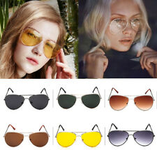 Unisex Retro Fashion Aviator Sunglasses Eyewear Shades Vintage Party Mens Womens