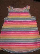 BNWT GIRLS STRIPED TANK SINGLET TOP SIZE 3  SLEEVELESS COLOURFUL