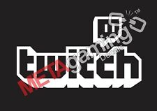 Twitch logo for Nintendo PS Xbox or Car Decal Sticker