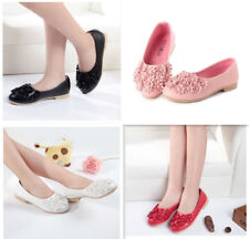 New Fashion Princess Flowers Girls Shoes Children Girls Cute Leather Shoes Dance