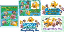 EDIBLE CAKE IMAGE BUBBLE GUPPIES BIRTHDAY PARTY ICING SHEET TOPPER CHOOSE FROM 5