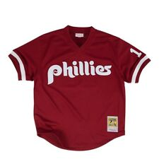 Mitchell and Ness JOHN KRUK Philadelphia Phillies Jersey Burgundy JKRUK91-420 b