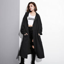 Fashion Women Oversize Zip Up Sweatshirt Sweats Hoodies Hooded Jacket Coat Plus