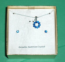 Jewelry Genuine Austrian Crystal Necklace and Earring Set NIB
