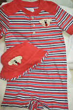 NEW BOYS CHAPS SET OUTFIT ROMPER HAT SHORTS w/ DOG NB 6 9 MONTHS BABY INFANT