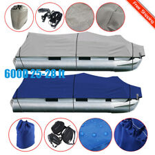 NEW 25-28Ft 600D Waterproof Heavy Duty Fabric Trailerable Pontoon Boat Cover HT