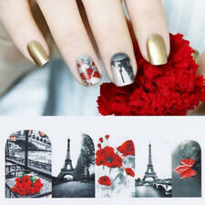 Nail Art Water Decals Transfers Stickers Paris Holidays Love Cat Valentines UPCA