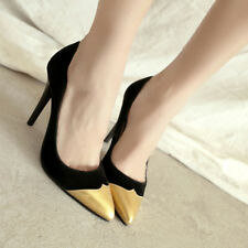 Women Stiletto High Heels Pointed Toe Party Shoes Slip On Pumps Ladies