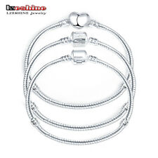 LZESHINE 2016 Hot Silver Love Snake Chain Fit Pan Charm Bracelets & Bangles