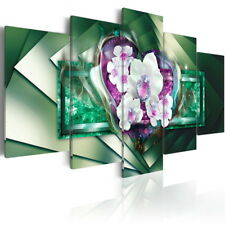 5 Panel Canvas Print White Flower Artwork Abstract Wall Decor Painting Hangings