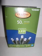HOLIDAY LIVING 50 ct LED Corded Micro Christmas Lights Cool White new