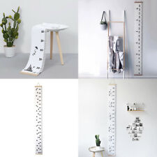 Wooden Frame Baby Height Growth Chart Kids Room Wall Hanging Painting Ruler