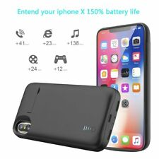 For iPhone X 5000mAh Rechargeable Extended Battery Backup Power Bank Cover Case