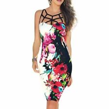 Women Empire Waist Style Floral Party Short Full Printed Dress