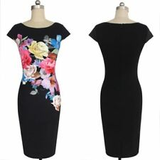 Women Flower Floral Printed Ruched Cap Sleeve Ruffle Casual Dress AP0275