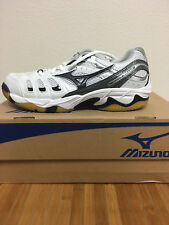 CLOSEOUT Mizuno Womens Wave Rally 2 Volleyball Shoes WHITE/BLACK Sizes 6 & 10
