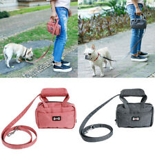Pet Leash Bag Dog Puppy Traction Rope With Functional Carrier Bag Poop Bag