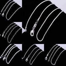 Genuine 925 Sterling Silver Chain Necklace Prince Of Wales Rope Curb 16-30 Inch