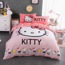 Pink Hello Kitty Animal Quilt Duvet Doona Cover Set Single Queen Size 100%Cotton