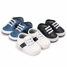 AU Baby Toddler PU Leather Sneaker Kid Boy Girl Ankle Boot Lace-Up Crib Shoes
